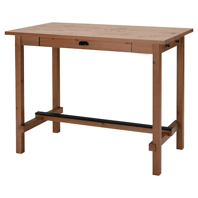 NORDVIKEN Bar table, antique stain, 140x80x105 cm