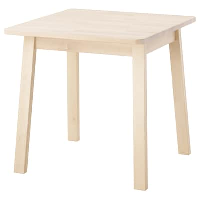 NORRÅKER Table, birch, 74x74 cm