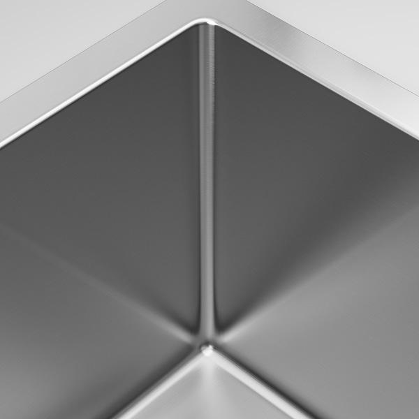 NORRSJÖN Inset sink, 1 bowl, stainless steel, 73x44 cm