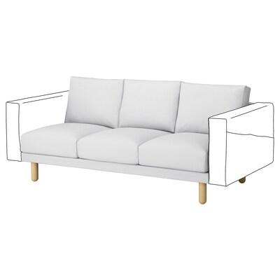 NORSBORG 3-seat section, Finnsta white/birch
