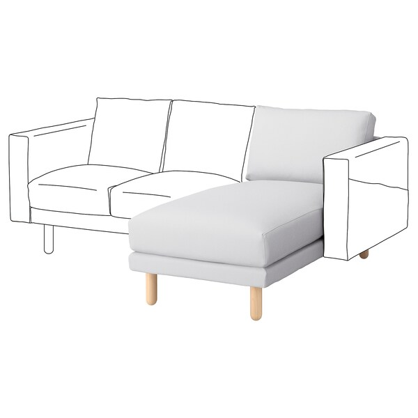 NORSBORG Cover chaise longue section, Finnsta white