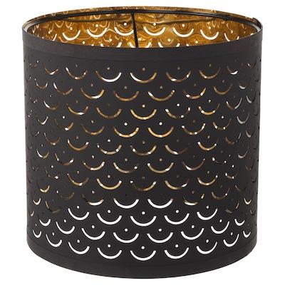 NYMÖ Lamp shade, black/brass-colour, 24 cm