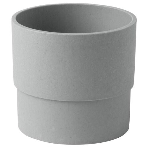 NYPON plant pot in/outdoor grey 10 cm 10 cm 9 cm 9 cm