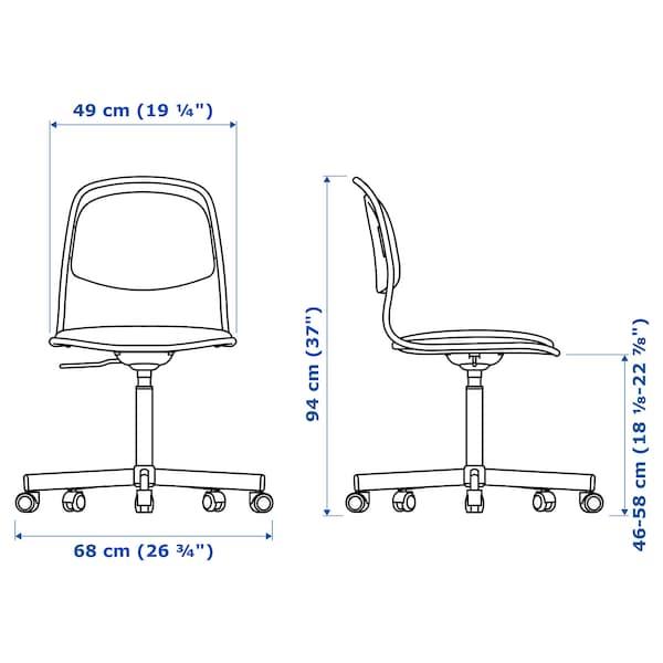 ÖRFJÄLL Swivel chair, black/Vissle black