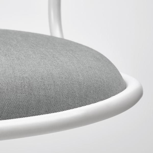 ÖRFJÄLL Swivel chair, white/Vissle light grey