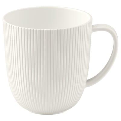 OFANTLIGT Mug, white, 31 cl