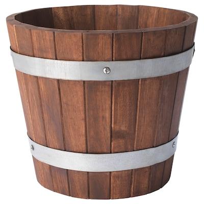 OGENMELON Plant pot, acacia/outdoor, 24 cm