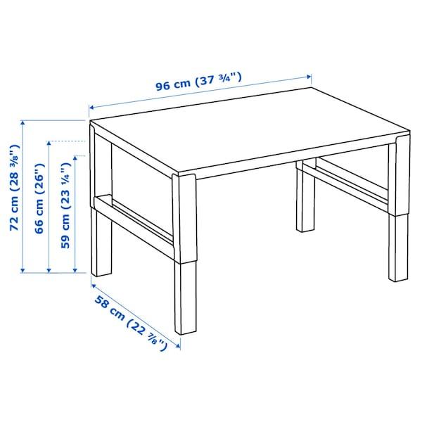 PÅHL Desk, white/blue, 96x58 cm