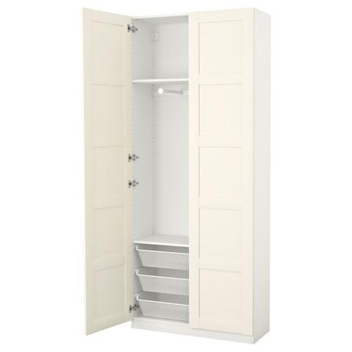 PAX wardrobe white/Bergsbo white 100 cm 38 cm 236.4 cm
