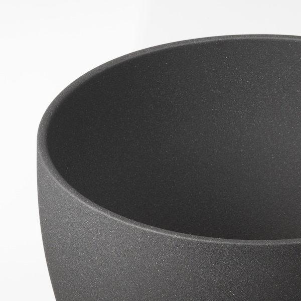 PERSILLADE Plant pot, dark grey, 24 cm