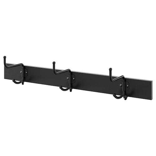 PINNIG rack with 3 hooks black 79 cm 17 cm 16 cm