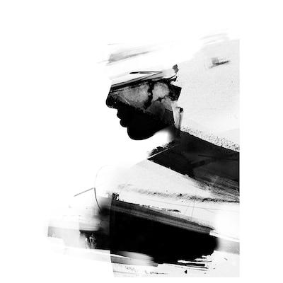 PJÄTTERYD Picture, Silhouettes, 50x70 cm