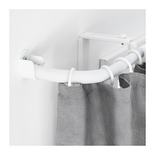 RÄCKA Curtain rod corner connector   Perfect to go around a corner or cover a bay window as it has a flexible gooseneck design.