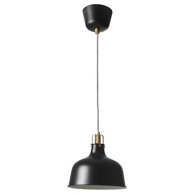 RANARP Pendant lamp, black, 23 cm