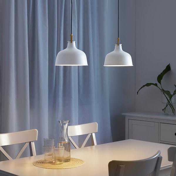 RANARP Pendant lamp, off-white, 23 cm