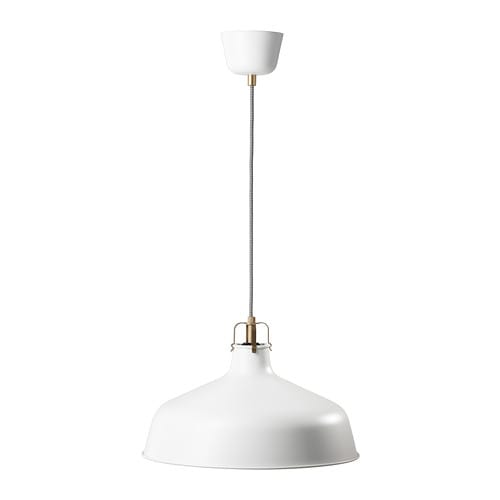 RANARP Pendant lamp   Gives a directed light; good for lighting up for example dining tables or bar tops.