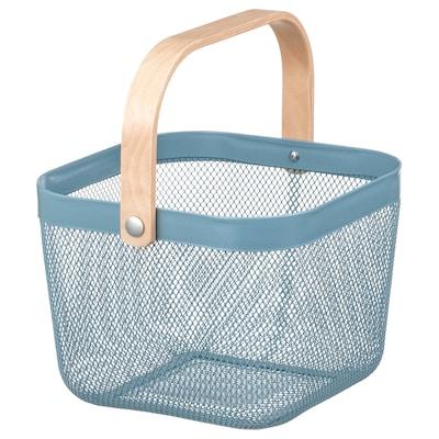 RISATORP Basket, blue, 25x26x18 cm