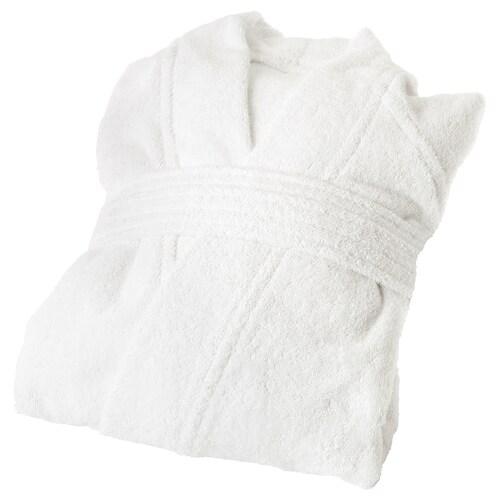ROCKÅN bath robe white 104 cm 380 g/m²