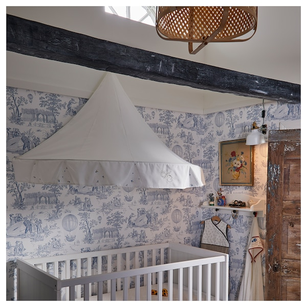 RÖDHAKE Bed canopy, rabbit pattern