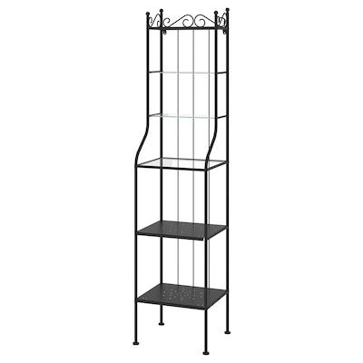 RÖNNSKÄR Shelving unit, black, 42x176 cm