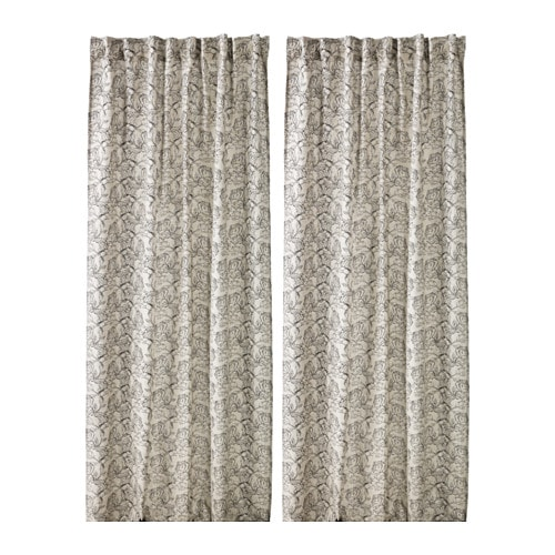 ikea ryssby curtains 1 pair assorted patterns 58 linen 42