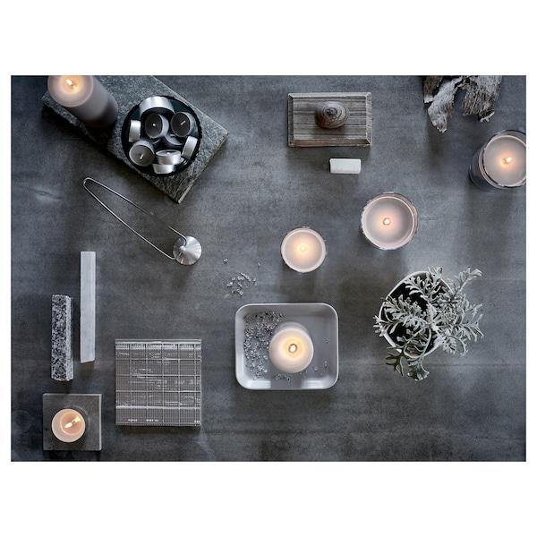 SINNLIG Scented tealight, Nutmeg and vanilla/grey