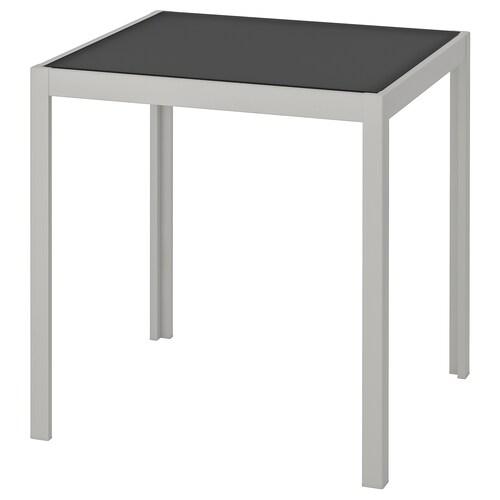 SJÄLLAND table, outdoor glass grey/light grey 71 cm 71 cm 73 cm