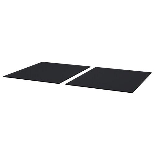 SJÄLLAND table top, outdoor glass/dark grey 85 cm 72 cm 1 cm 2 pieces