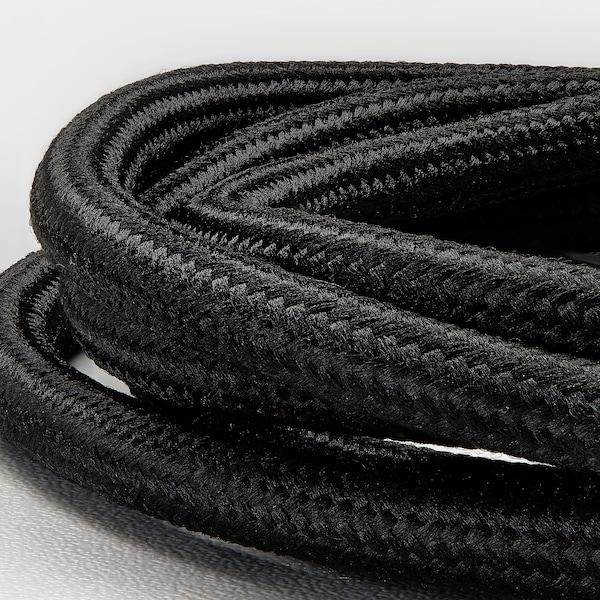 SKAFTET Cord set, textile brass-plated, 1.4 m