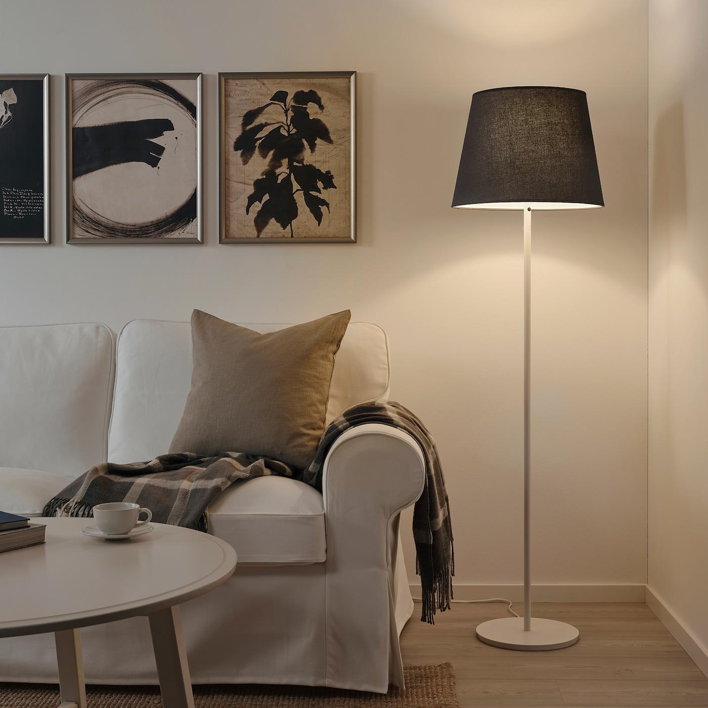 SKOTTORP Lamp shade, grey, 42 cm
