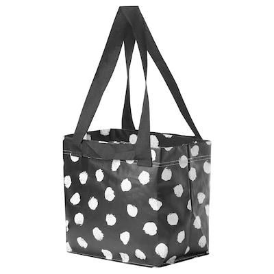 SKRUTTIG Bag, white/black, 27x27 cm