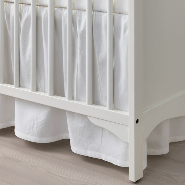 SMÅGÖRA Cot, white, 60x120 cm