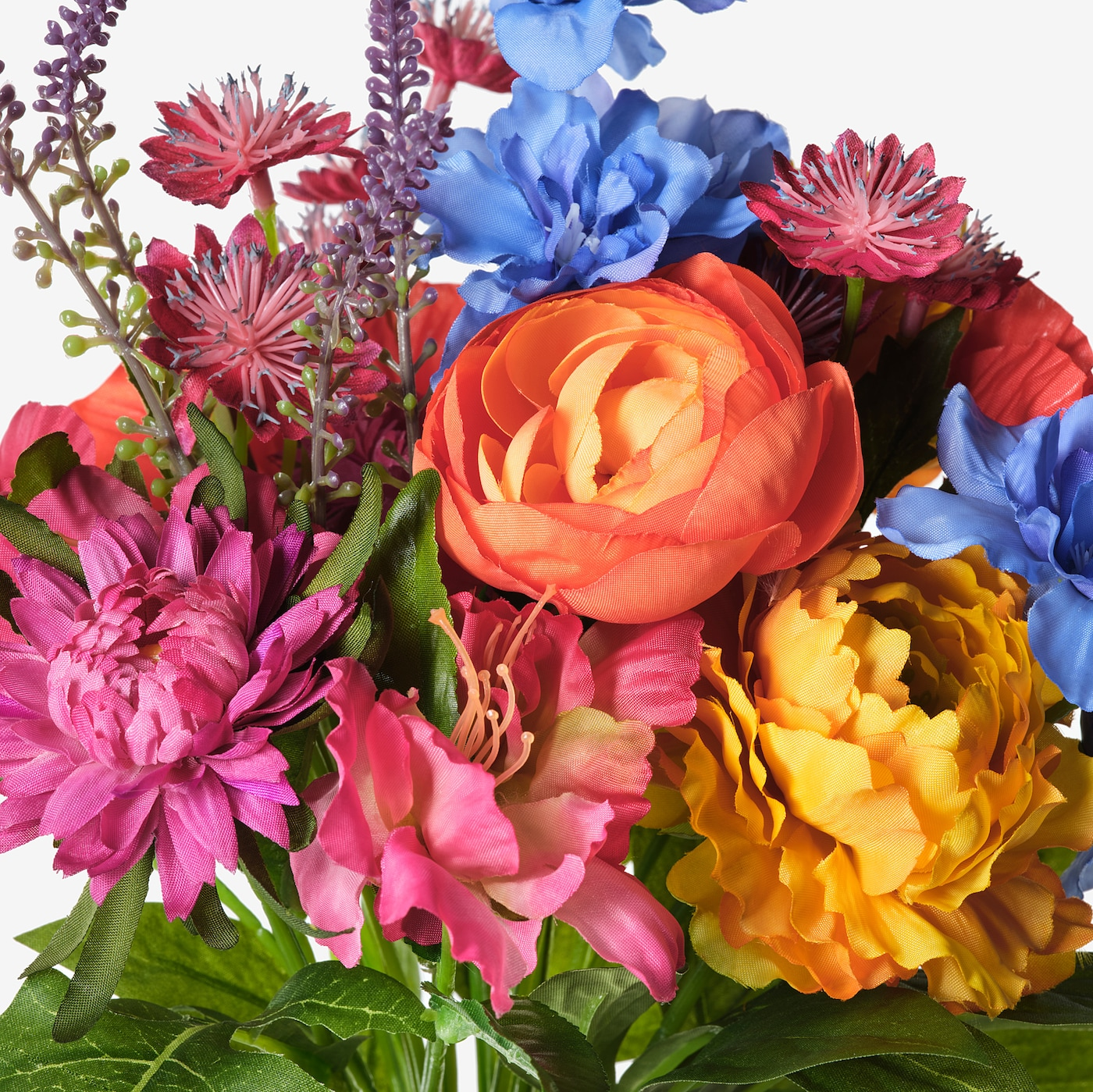 Smycka Artificial Bouquet In Outdoor Blue Red Yellow Pink 41 Cm Ikea