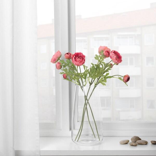 SMYCKA Artificial flower, Ranunculus/dark pink, 52 cm