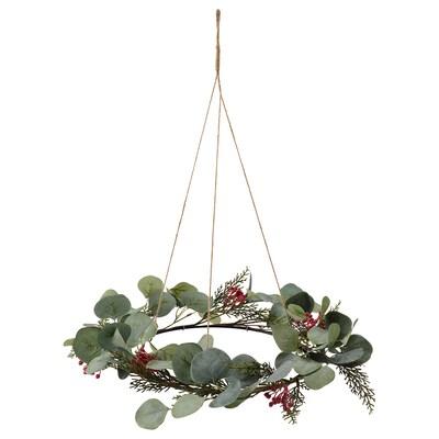SMYCKA Artificial wreath, in/outdoor eucalyptus, 46 cm