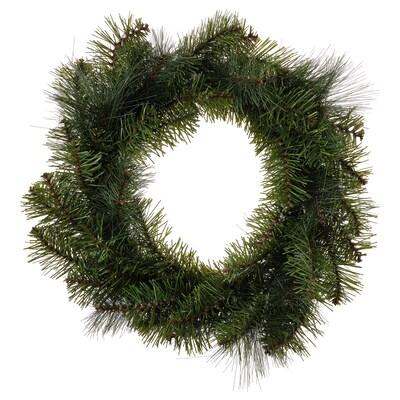 SMYCKA Artificial wreath, in/outdoor/pine spruce, 45 cm