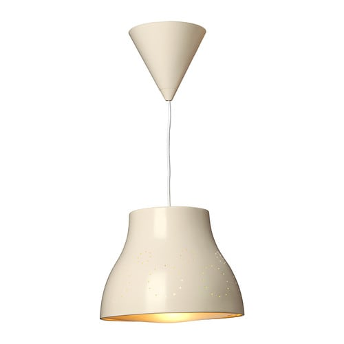 SNÖIG Pendant lamp   Safety tested and tamper-proof to protect little fingers.  Gives a good general light.