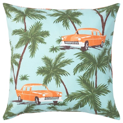 SOMMAR 2020 Cushion cover, blue/multicolour, 50x50 cm