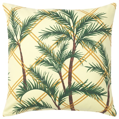 SOMMAR 2020 Cushion cover, light yellow/multicolour, 50x50 cm