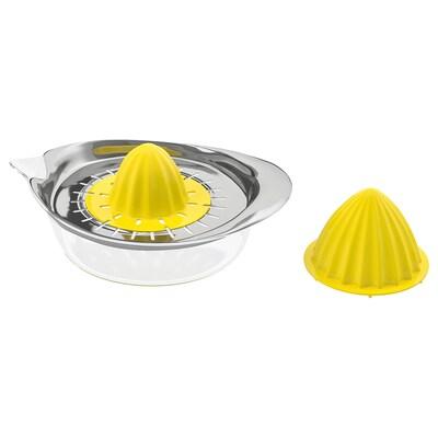 SPRITTA Citrus squeezer, transparent/yellow stainless steel