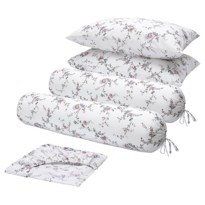 STENÖRT 5-piece bedlinen set, flower, Queen