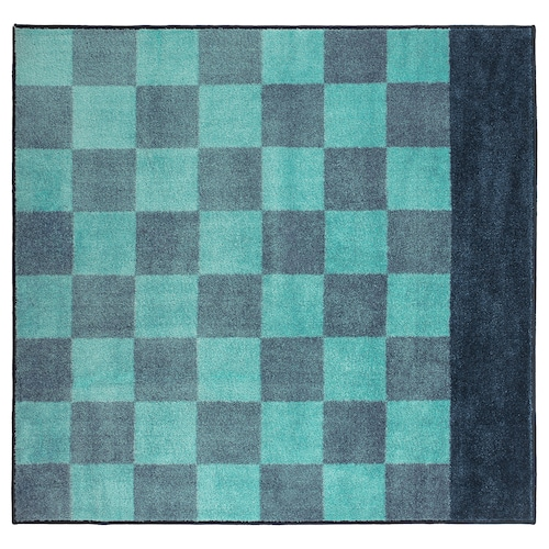 STILLSAMT rug, high pile blue 140 cm 133 cm