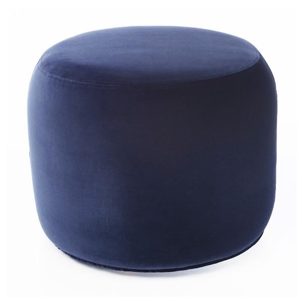 STOCKHOLM 2017 Pouffe, Sandbacka dark blue, 50x50 cm