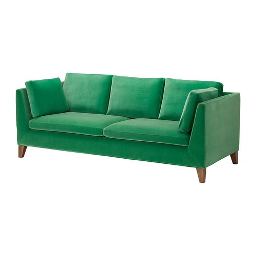 STOCKHOLM Three-seat sofa   The cover is easy to keep clean as it is removable and can be dry cleaned.