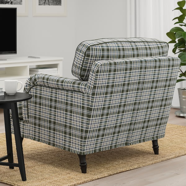 STOCKSUND Armchair, Segersta multicolour/black/wood