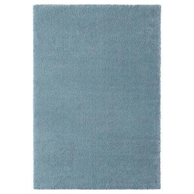 STOENSE Rug, low pile, medium blue, 133x195 cm