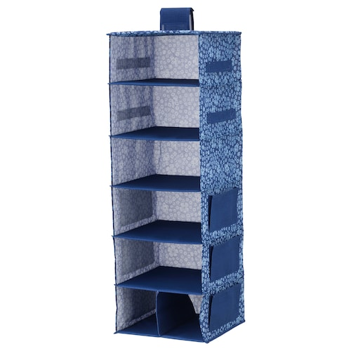 STORSTABBE hanging storage with 7 compartments blue/white 30 cm 30 cm 90 cm