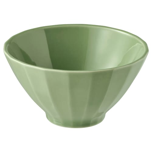 STRIMMIG bowl stoneware green 6 cm 11 cm