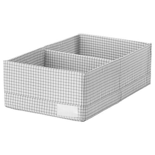 STUK box with compartments white/grey 20 cm 34 cm 10 cm