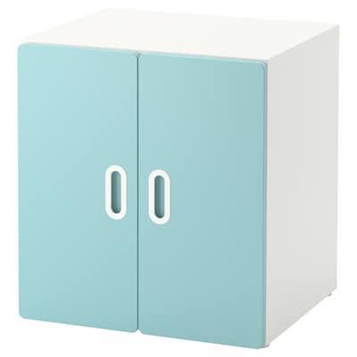 STUVA / FRITIDS Cabinet, white/light blue, 60x50x64 cm